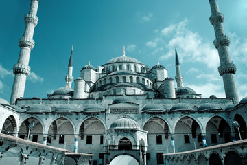 Fantastic view of Hagia Sophia mosque in Istanbul, Turkey