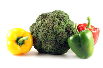 Keuken foto achterwand Keuken vegetables on a white background