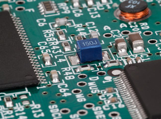 Printed circuit board with various components