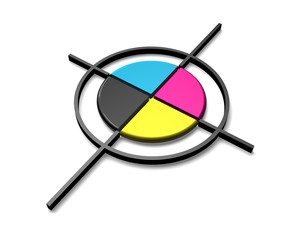 CMYK color target