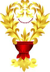 Vector gold decor