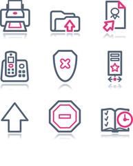 Color contour web icons, set 4
