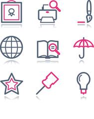 Color contour web icons, set 9