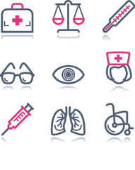 Color contour web icons, set 13