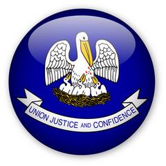 Louisiana State Flag Button