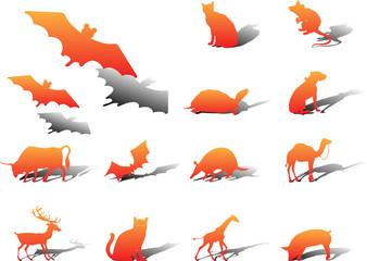 Set icons. Animals