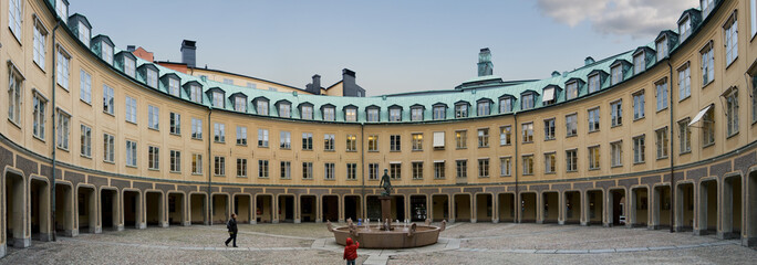 Fountain in an internal Courtyard in the Stockholm center