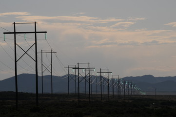 Glowing Insulators utility lines