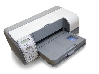 ink-jet printer A4. Isolated on white with clipping path