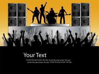 Rock Concert Vector Flyer