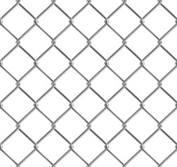 Metallic fence. Seamless texture. Isolated.