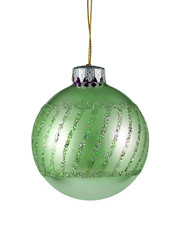 christmas tree ornament isolated on white background