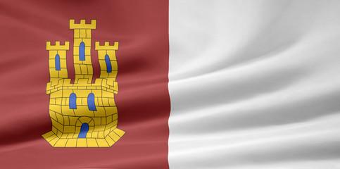 Flagge von Kastilien - La Mancha
