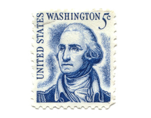US postage stamp on white background 5c
