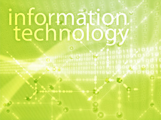 Information technology illustration, Digital data transfer