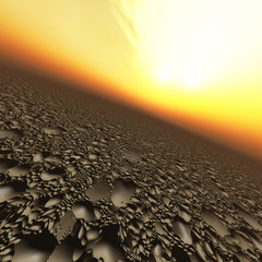Background of a Pelted Planet with Pits