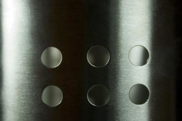 Edelstahl Struktur mit Löcher