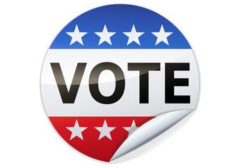 Sticker américain vote (détouré)