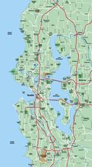 Seattle Metropolitan Area Map