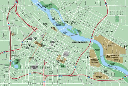 Downtown Minneapolis  City Map