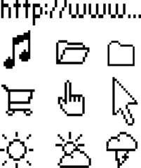 Vector retro icons
