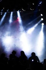 Konzert-Besucher und Licht-Show