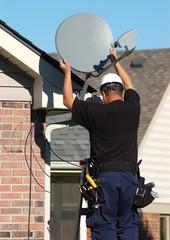 Satellite dish technician