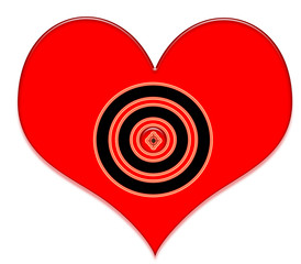 My target your heart valentines card original