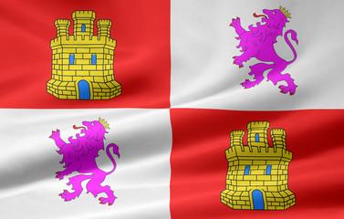 Flagge von Kastilien - Leon