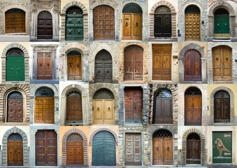 Collection vintage obsolete elegant tuscany door