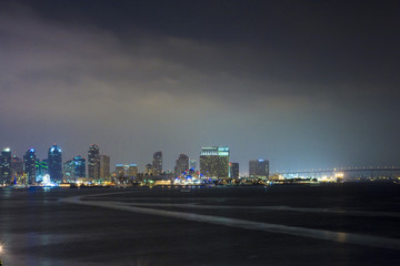 Downtown of San Diego at night, Ca