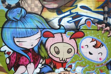 dibujo manga. graffiti arte urbano