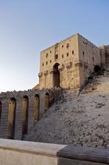 Citadelle Eingang in Aleppo, Syrien