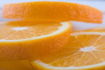 Aluminium Prints Slices of fruit 3 Orangenscheiben