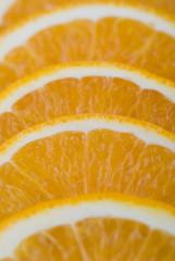 Aluminium Prints Slices of fruit Orange gefächert
