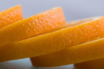 Aluminium Prints Slices of fruit Orangenschalen