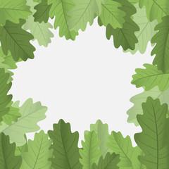 Framework with leaves. Vector illustration