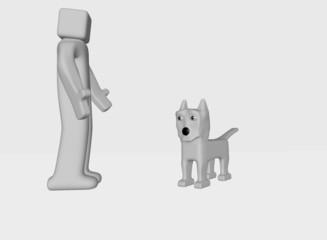 talk with dog