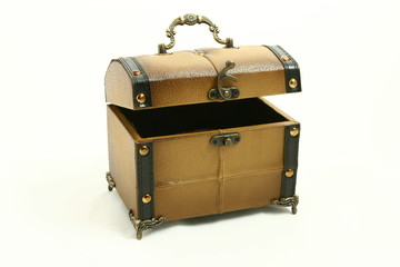 Isolated old chest
