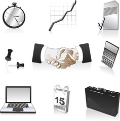 vector clipart illustration of business icons