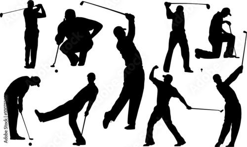 Golf Player Silhouette Vector Stockfotos Und Lizenzfreie Vektoren