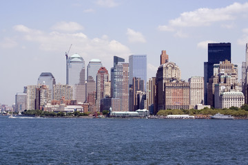 picture of Manhattan skyline taken from Staten Island ferry