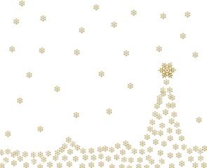 Gold stars on white