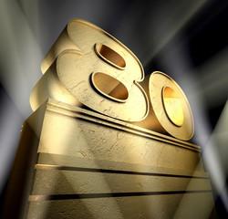 80 eigthy birthday monument