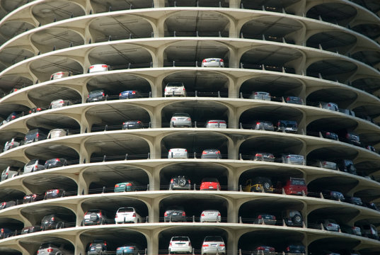 Marina City Tower Parking Deck Levels in Chicago, Illinois