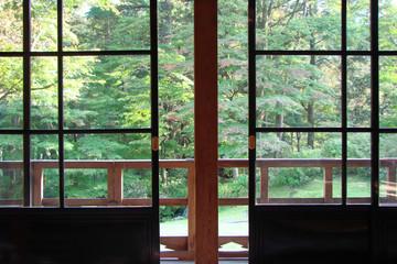 Maison japonaise avec jardin