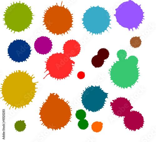 Taches d 39 encre couleurs fichier vectoriel libre de - Tache d encre sur tissu ...