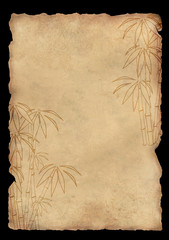Background - sheet rice paper with figure of bamboo