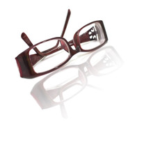 Glasses isolated on white.
