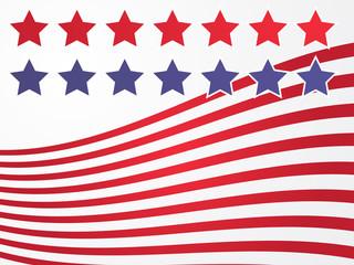 Stars and stripes illustration USA flag abstract representation